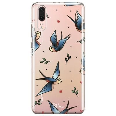 Birds Tattoo Case Huawei P20