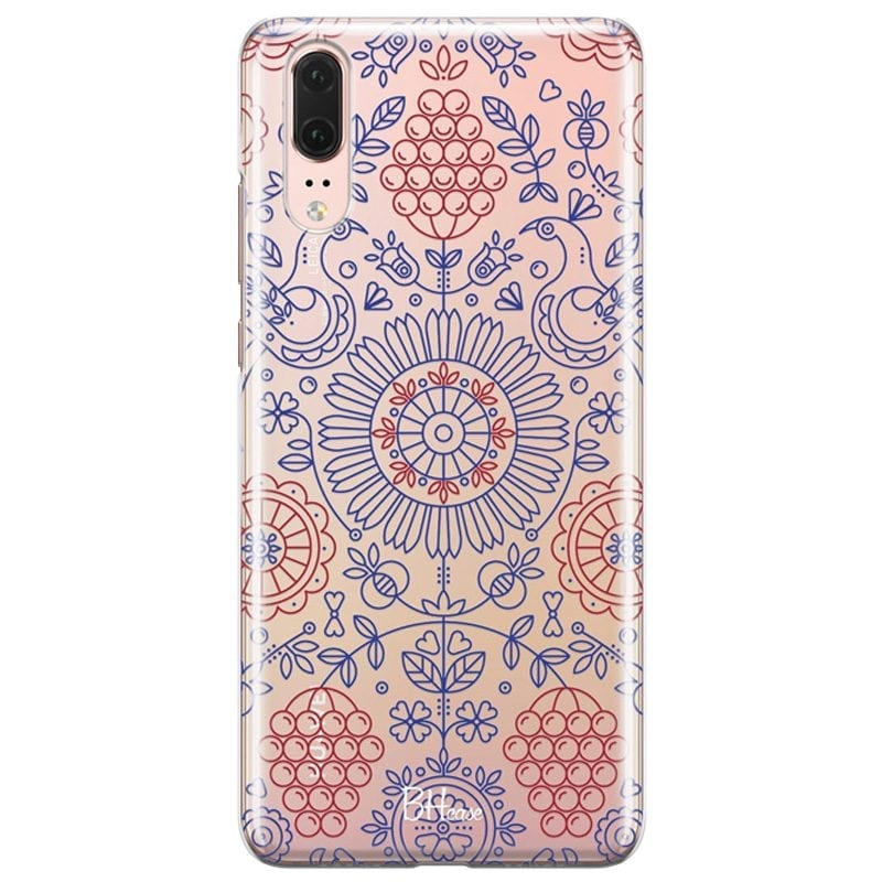 Blue Red Ornaments Case Huawei P20