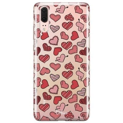 Hearts Red Case Huawei P20