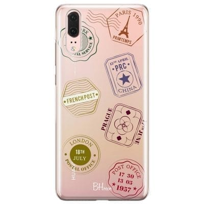 Travel Stamps Case Huawei P20