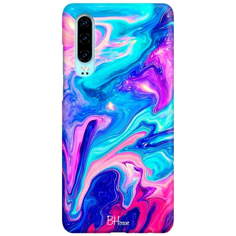 Abstract Blue Case Huawei P30