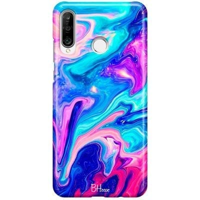 Abstract Blue Case Huawei P30 Lite