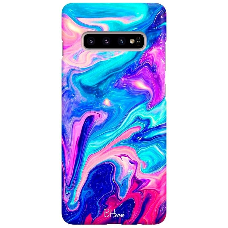 Abstract Blue Case Samsung S10