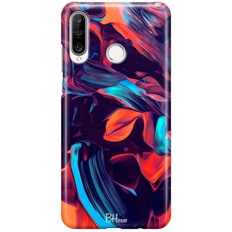 Abstract Purple Case Huawei P30 Lite