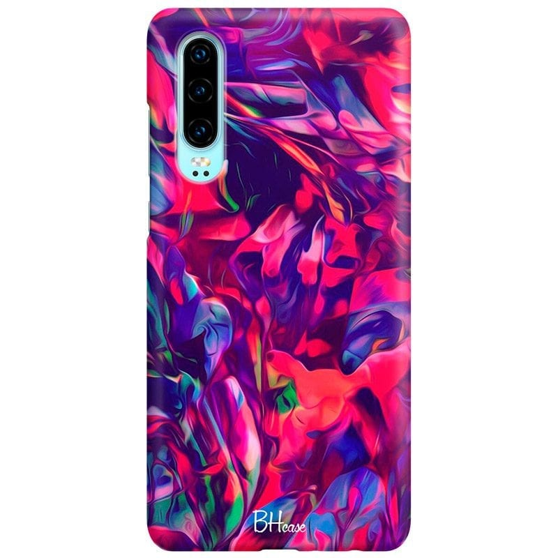 Abstract Red Case Huawei P30
