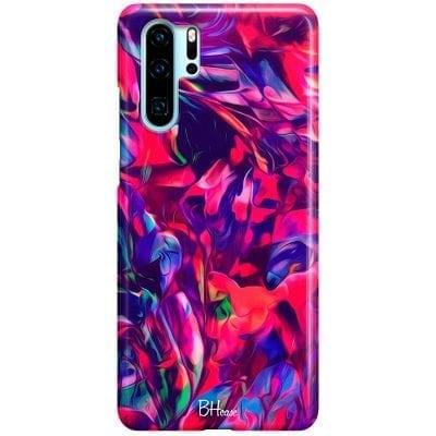 Abstract Red Case Huawei P30 Pro