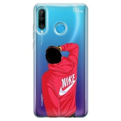 Back Boy Nike Case Huawei P30 Lite