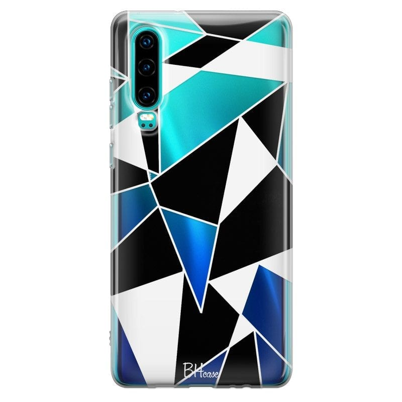 Black White Geometric Case Huawei P30