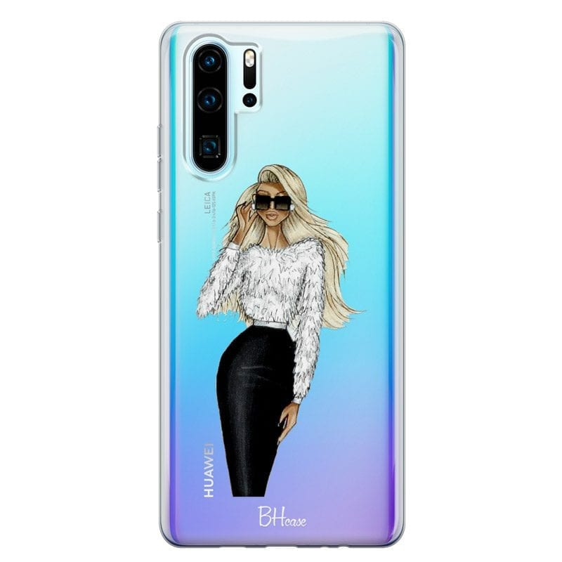 Blonde High Fashion Girl Case Huawei P30 Pro