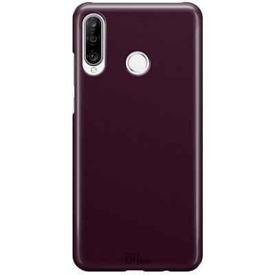 Blood Red Color Case Huawei P30 Lite