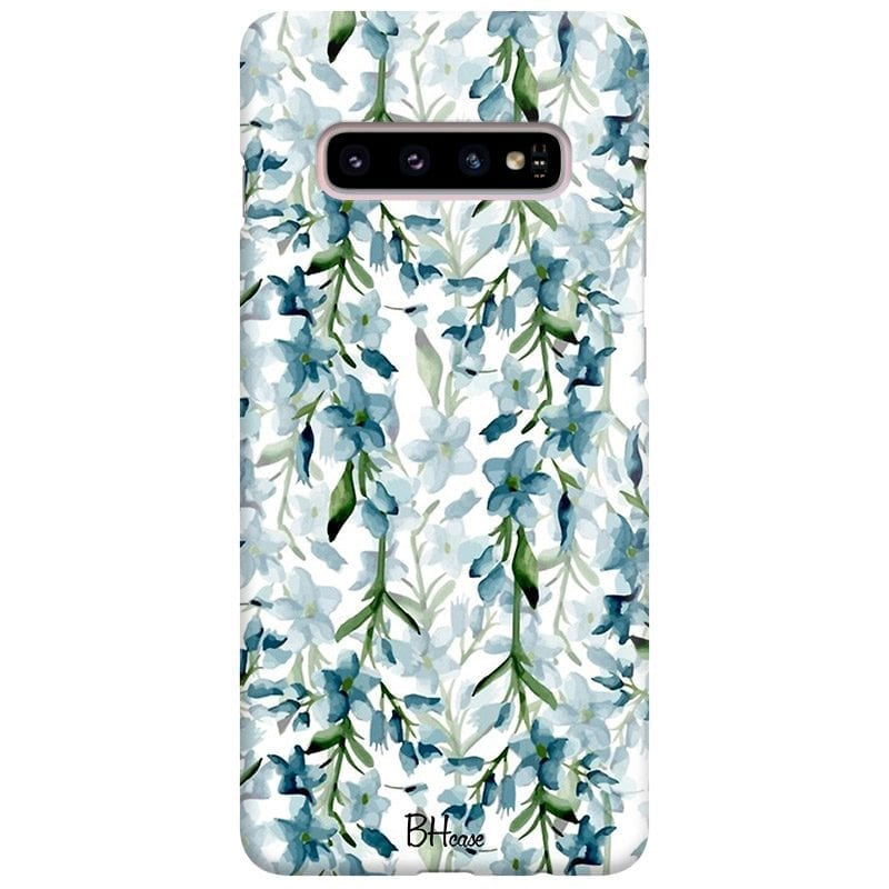 Blue Flowers Watercolor Case Samsung S10 Plus