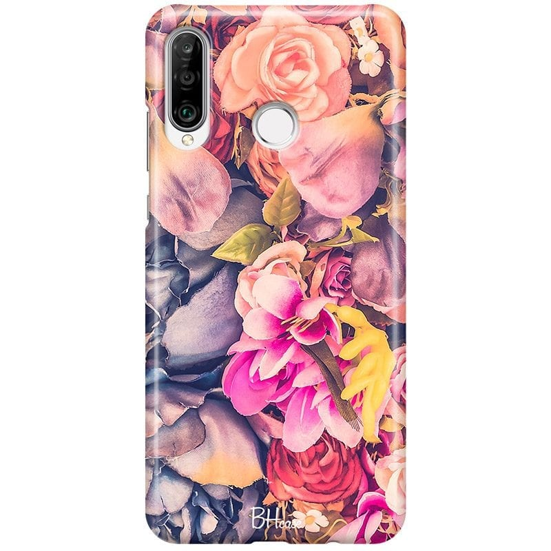 Colorful Flowers Case Huawei P30 Lite