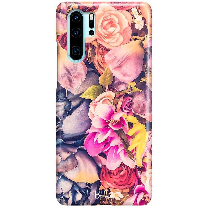 Colorful Flowers Case Huawei P30 Pro