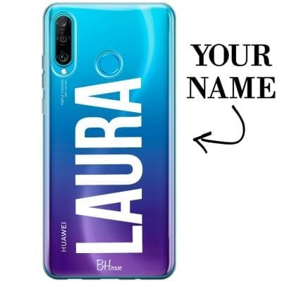 Case with big name for Huawei P30 Lite