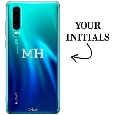 Case with initials for Huawei P30