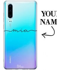 Case with name for Huawei P30