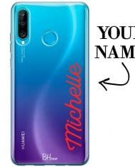 Case with vertical name for Huawei P30 Lite