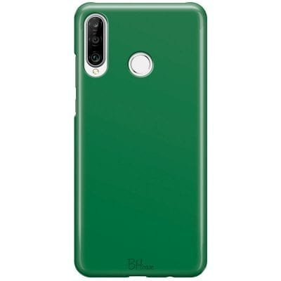 Dark Spring Green Color Case Huawei P30 Lite