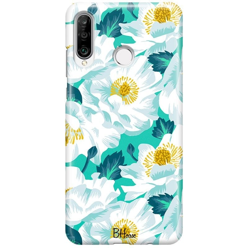 Floral Lime Case Huawei P30 Lite