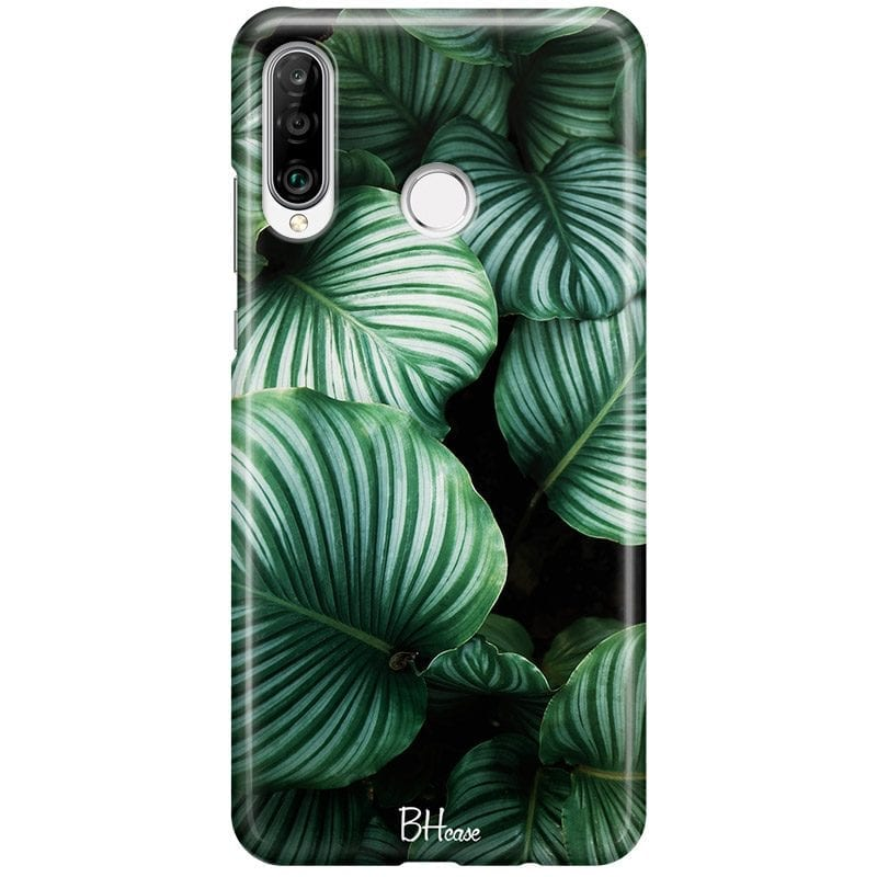 Green Leaves Case Huawei P30 Lite