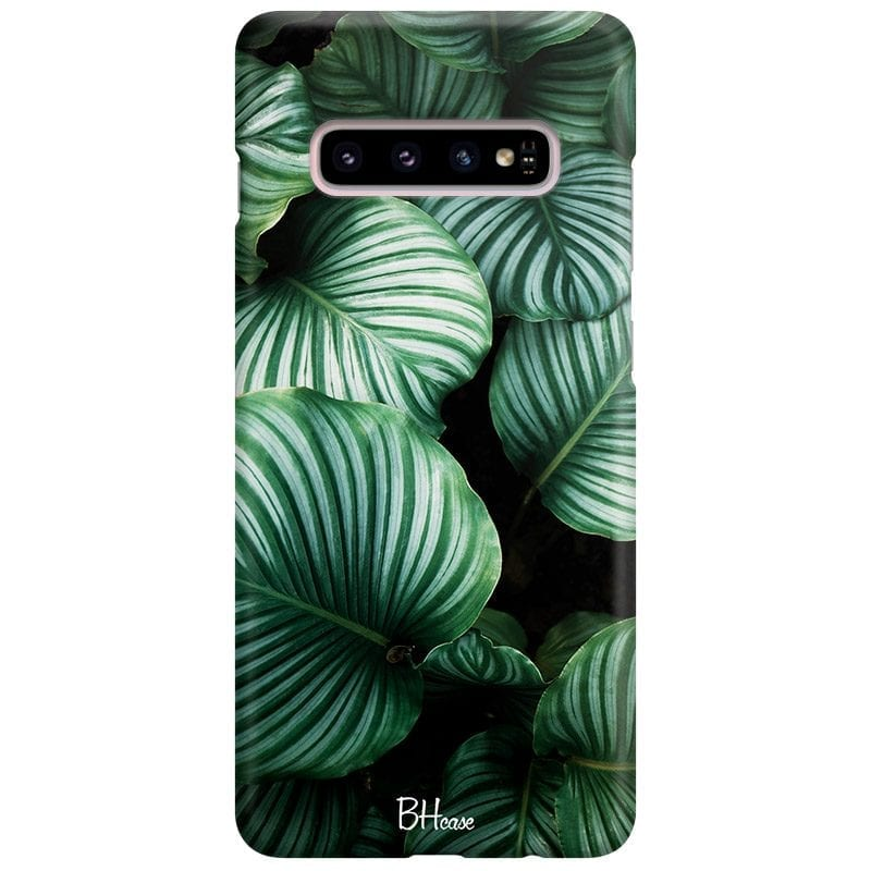 Green Leaves Case Samsung S10