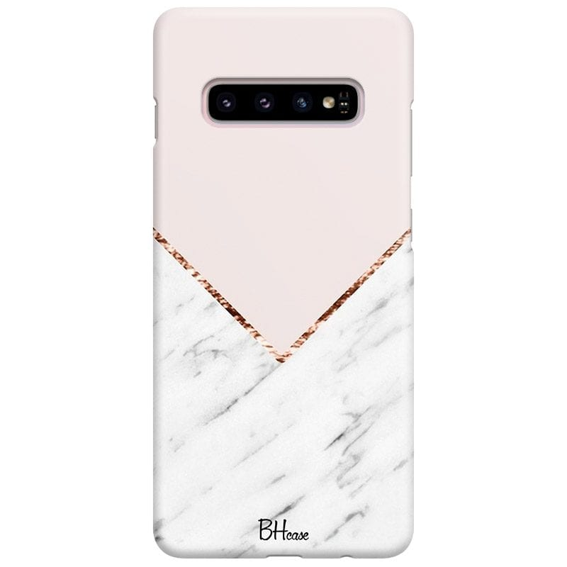 Marble And Pink Color Case Samsung S10