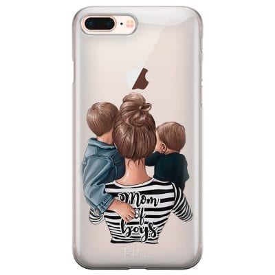 Mom of Boys Case iPhone 7 Plus/8 Plus