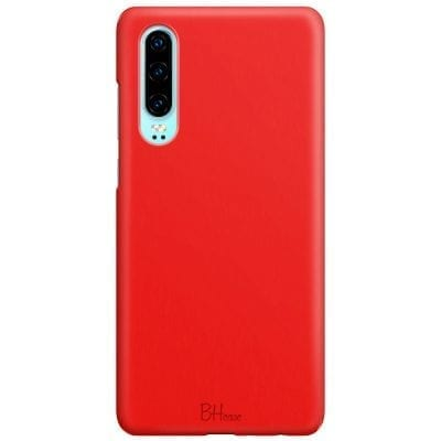 Red Apple Color Case Huawei P30