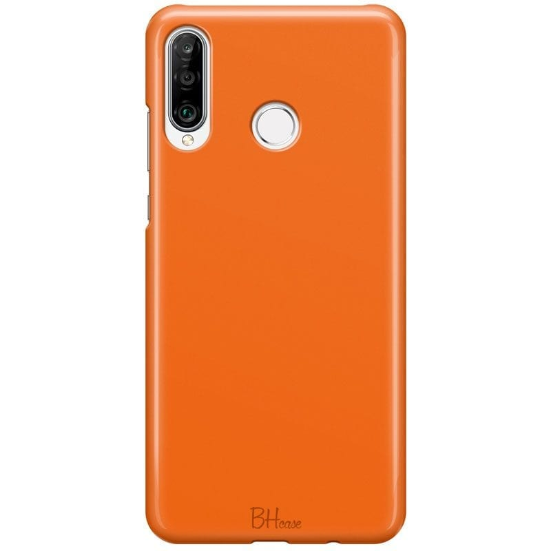 Tiger Orange Color Case Huawei P30 Lite