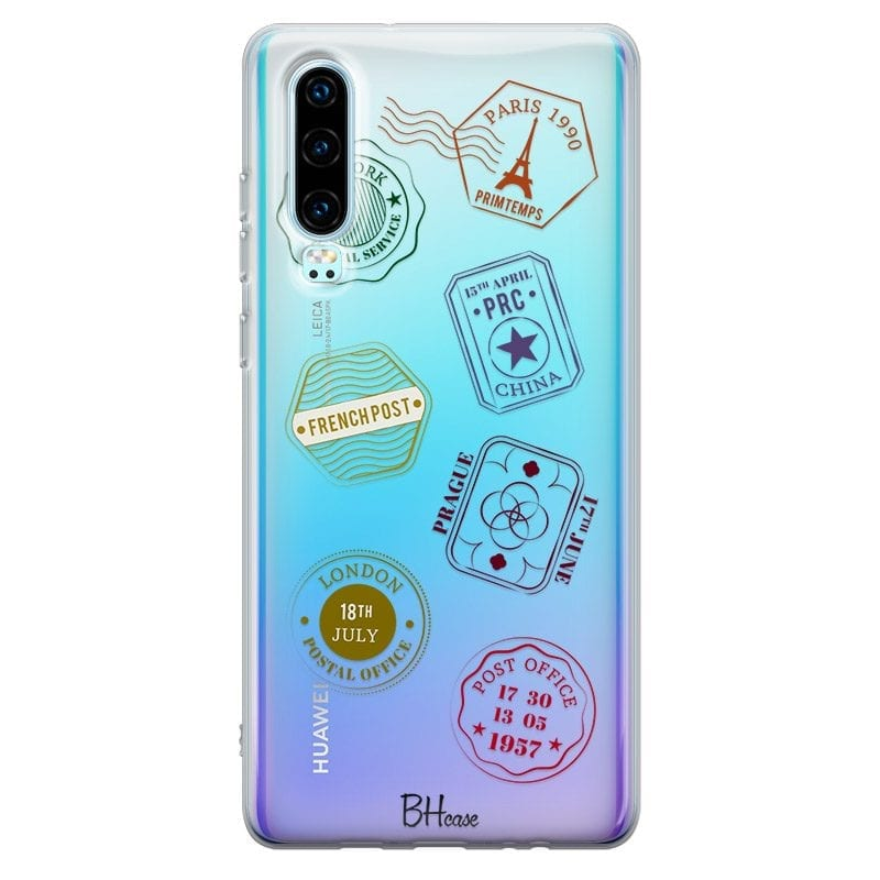 Travel Stamps Case Huawei P30