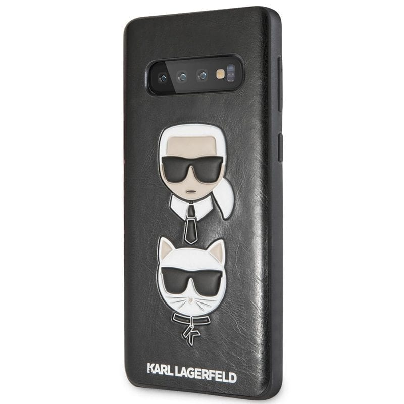 Karl Lagerfeld Karl and Choupette Black Case Samsung S10