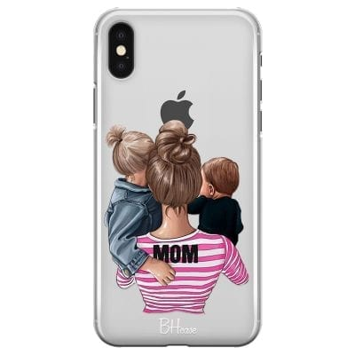 Mom Of Boy And Girl Case iPhone XS Max