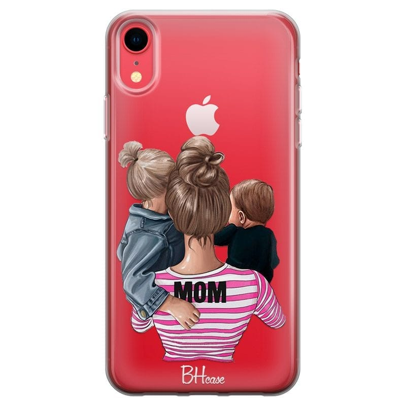 Mom Of Boy And Girl Case iPhone XR