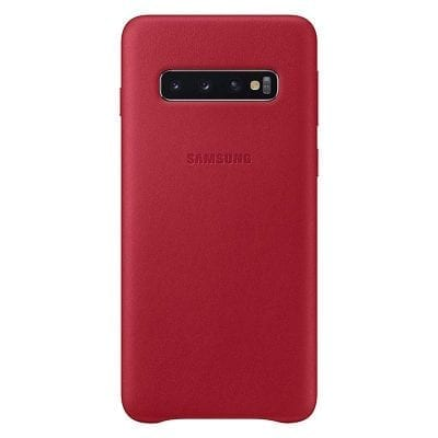 Samsung Leather Red Case Samsung S10 Plus