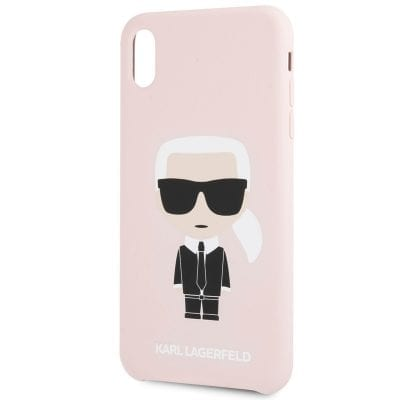 Karl Lagerfeld Ikonic Full Body Silicone Pink Case iPhone XR