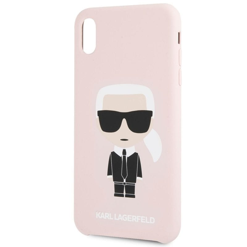 Karl Lagerfeld Ikonic Full Body Silicone Pink Case iPhone X/XS