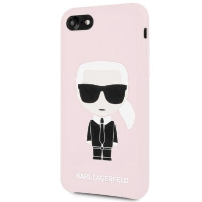 Karl Lagerfeld Ikonic Full Body Silicone Pink Case iPhone 8/7/6S/6