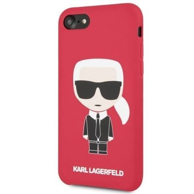 Karl Lagerfeld Ikonic Full Body Silicone Red Case iPhone 8/7/6S/6