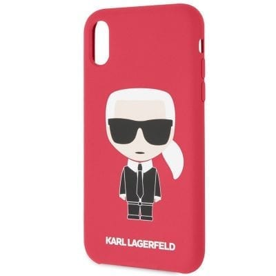 Karl Lagerfeld Ikonic Full Body Silicone Red Case iPhone XR