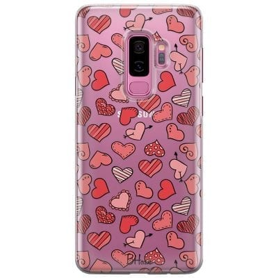 Hearts Red Case Samsung S9 Plus