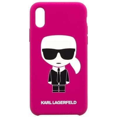 Karl Lagerfeld Ikonic Full Body Fushia Case iPhone X/XS