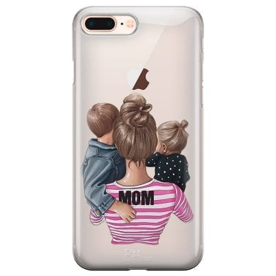 Mom Of Girl And Boy Case iPhone 7 Plus/8 Plus