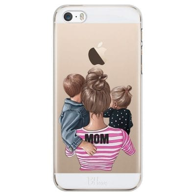 Mom Of Girl And Boy Case iPhone SE/5S