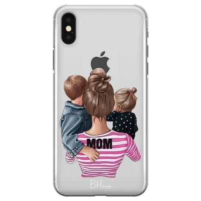 Mom Of Girl And Boy Case iPhone XS Max