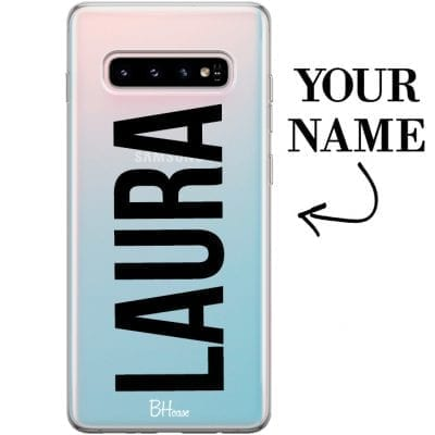 Case with big name for Samsung S10 Plus