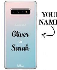 Case with double name for Samsung S10