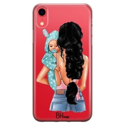 Mother Black Haired With Boy Case iPhone XR