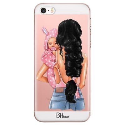 Mother Black Haired With Girl Case iPhone SE/5S