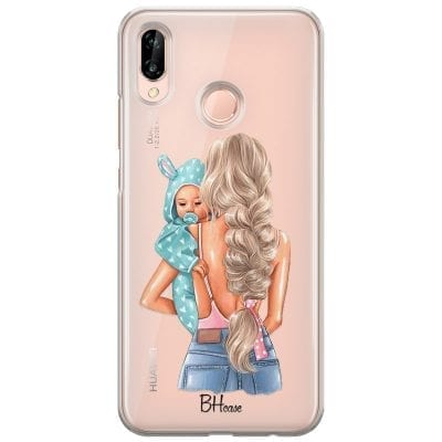 Mother Blonde With Boy Case Huawei P20 Lite/Nova 3E
