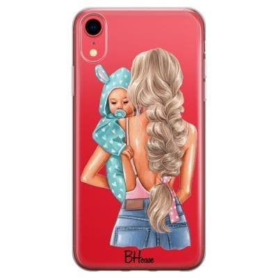 Mother Blonde With Boy Case iPhone XR